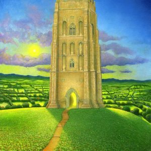 Glastonbury Tor Unframed- radiant spirit art