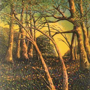 Woodland Scene Unframe - radiant spirit art