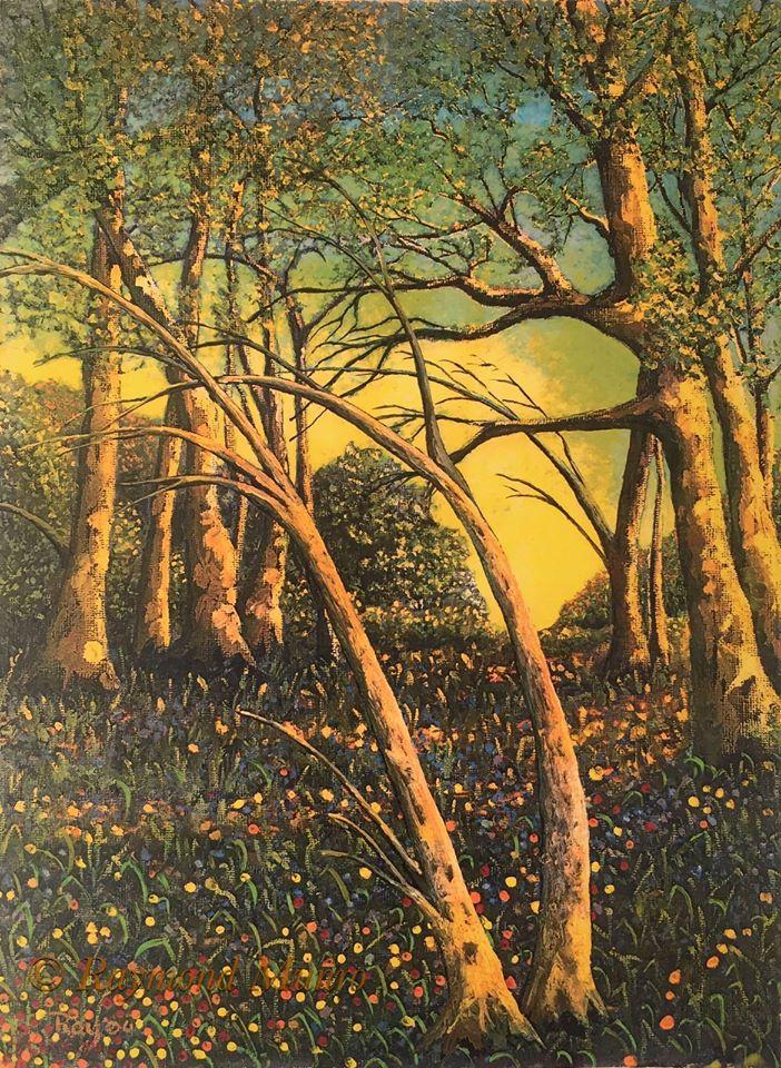 Woodland scene unframed